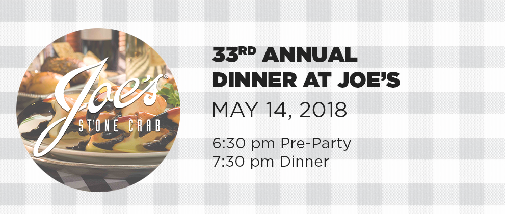 Joe's 2018 - 33rd Annual Dinner at Joe's on May 14 2018