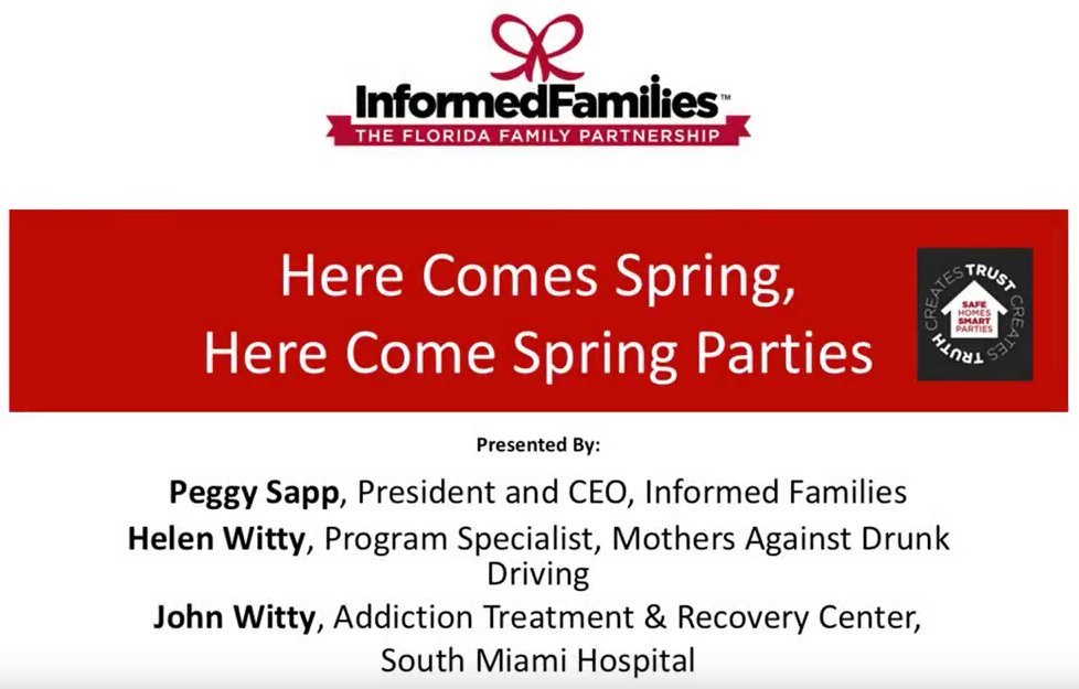 April 29 Webinar - Here Comes Spring, Here Come Spring Parties