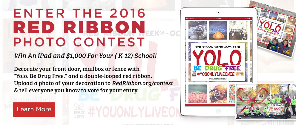 Enter the 2016 Red Ribbon Week Photo Contest