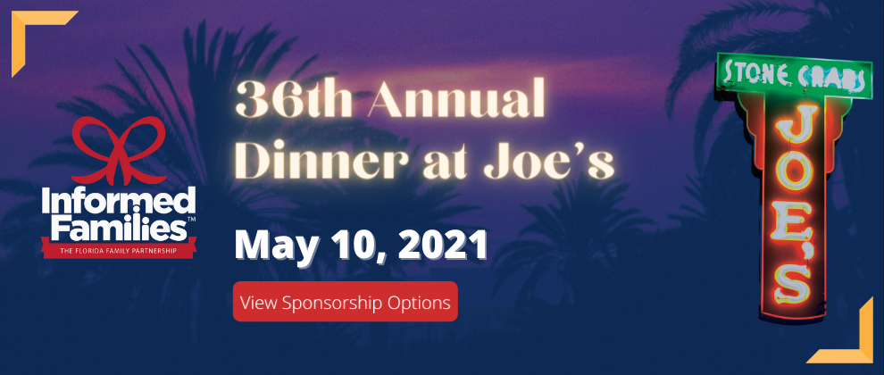 36th Annual Dinner at Joes banner for Website