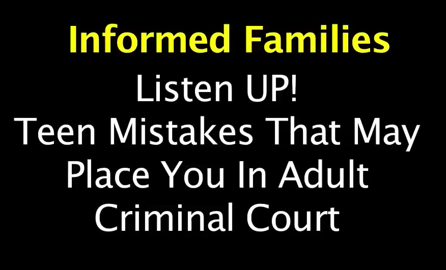 Listen UP: Teen Mistakes & Their Unexpected, Permanent Consequences