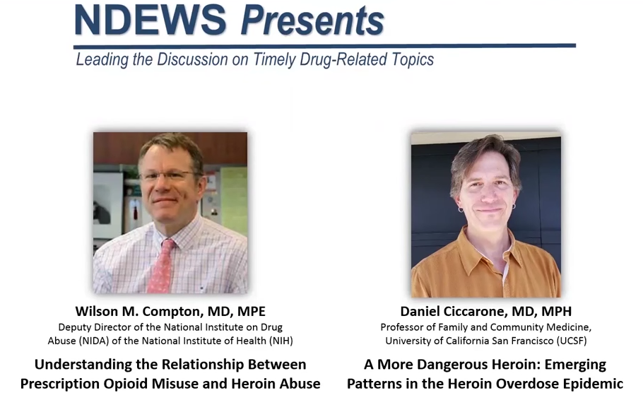NDEWS Presents: The Relationship Between Prescription Opioid Misuse & Heroin Abuse (3/28/16)