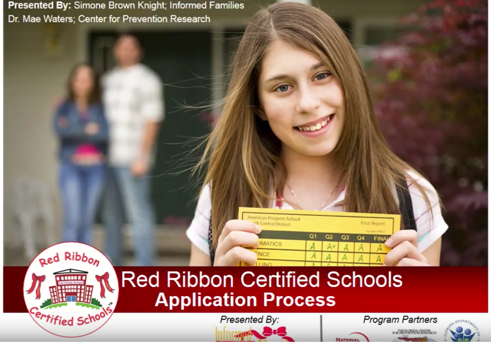 Red Ribbon Certified Schools Introduction Webinar