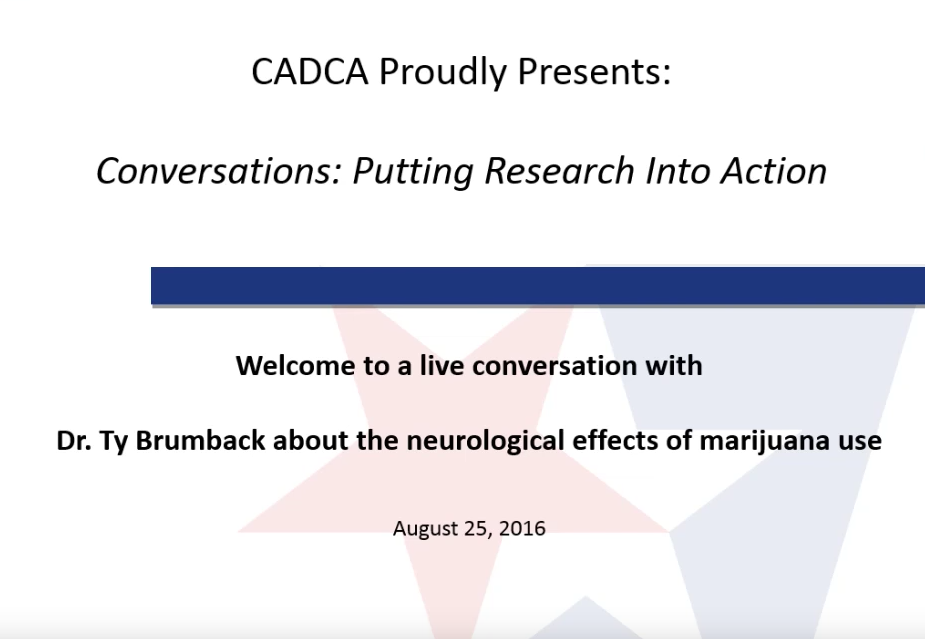 Research Into Action Webinar Series - Marijuana