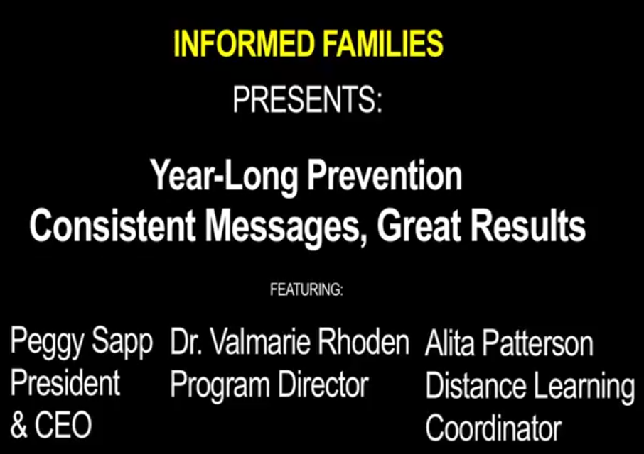 Year-Long Prevention: Consistent Messages, Great Results