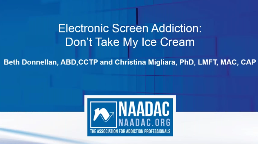 Electronic Screen Addiction: Don't Take My Ice Cream